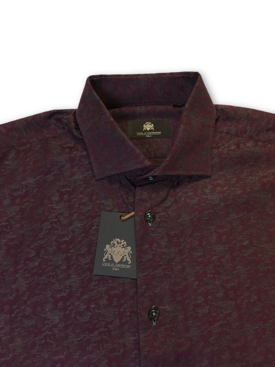 Circle of Gentlemen Kaden shirt in wine red