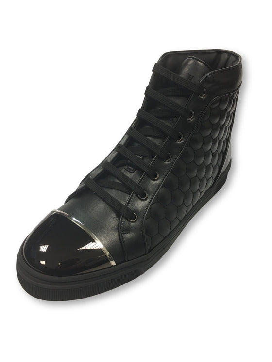 Louis Leeman high top sneakers with quilt and cap in black- khakisurfer.com Latest menswear designer brands added include Eton, Etro, Agave Denim, Pal Zileri, Circle of Gentlemen, Ralph Lauren, Scotch and Soda, Hugo Boss, Armani Jeans, Armani Collezioni.