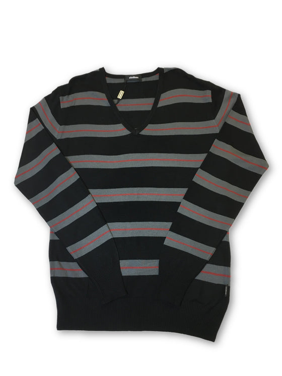 Strellson knitwear in black and grey stripe- khakisurfer.com Latest menswear designer brands added include Eton, Etro, Agave Denim, Pal Zileri, Circle of Gentlemen, Ralph Lauren, Scotch and Soda, Hugo Boss, Armani Jeans, Armani Collezioni.