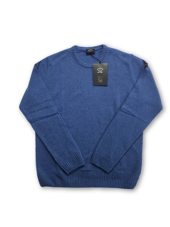 Paul & Shark Yachting Colours Of Shetland knitwear in blue