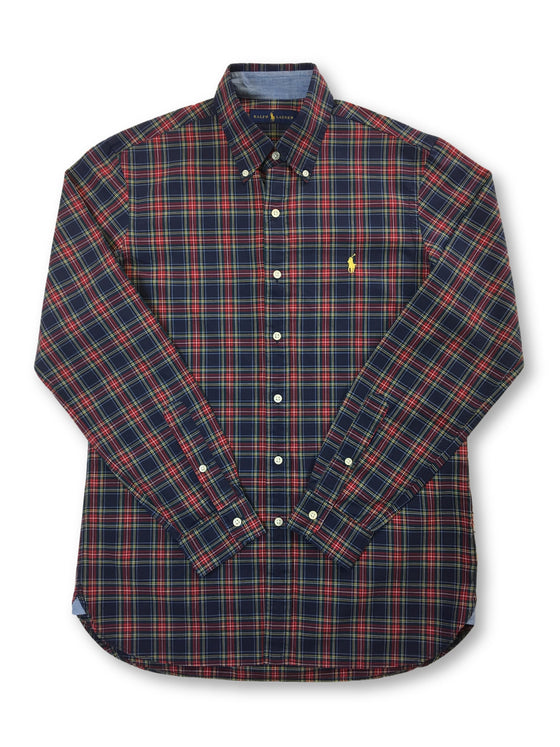 Ralph Lauren cotton casual shirt in brick red and navy tartan- khakisurfer.com Latest menswear designer brands added include Eton, Etro, Agave Denim, Pal Zileri, Circle of Gentlemen, Ralph Lauren, Scotch and Soda, Hugo Boss, Armani Jeans, Armani Collezioni.