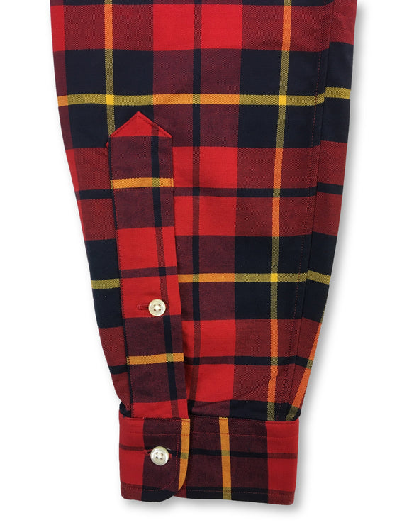 Ralph Lauren slim fit cotton casual shirt in red and black check- khakisurfer.com Latest menswear designer brands added include Eton, Etro, Agave Denim, Pal Zileri, Circle of Gentlemen, Ralph Lauren, Scotch and Soda, Hugo Boss, Armani Jeans, Armani Collezioni.