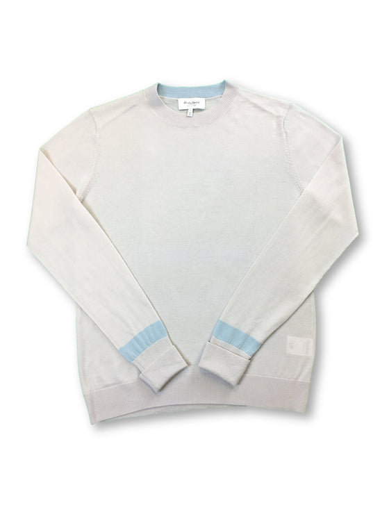 Hardy Amies knitwear in light grey-khakisurfer.com