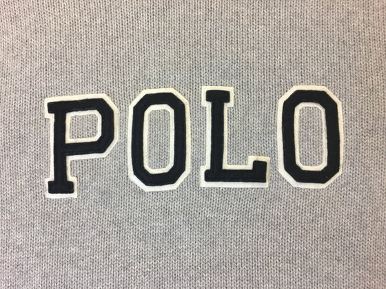 Ralph Lauren Polo knitwear in grey with black brand logo- khakisurfer.com Latest menswear designer brands added include Eton, Etro, Agave Denim, Pal Zileri, Circle of Gentlemen, Ralph Lauren, Scotch and Soda, Hugo Boss, Armani Jeans, Armani Collezioni.
