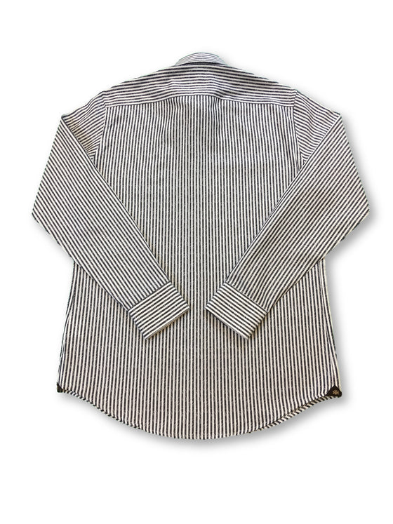 Circle of Gentlemen Karl Finn shirt in black/white stripe- khakisurfer.com Latest menswear designer brands added include Eton, Etro, Agave Denim, Pal Zileri, Circle of Gentlemen, Ralph Lauren, Scotch and Soda, Hugo Boss, Armani Jeans, Armani Collezioni.