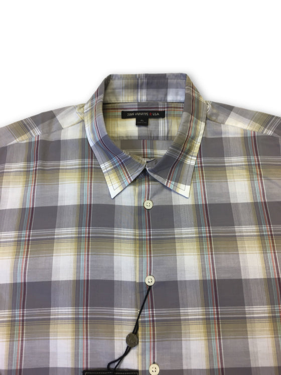 John Varvatos Star USA shirt in grey/beige check