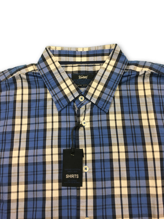 Vintage 55 Shirt in blue/white check- khakisurfer.com Latest menswear designer brands added include Eton, Etro, Agave Denim, Pal Zileri, Circle of Gentlemen, Ralph Lauren, Scotch and Soda, Hugo Boss, Armani Jeans, Armani Collezioni.