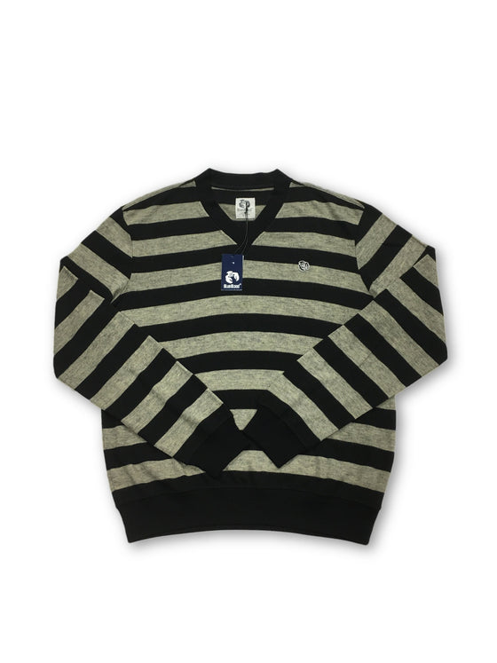 Blue Blood Knitwear in grey and black stripe- khakisurfer.com Latest menswear designer brands added include Eton, Etro, Agave Denim, Pal Zileri, Circle of Gentlemen, Ralph Lauren, Scotch and Soda, Hugo Boss, Armani Jeans, Armani Collezioni.