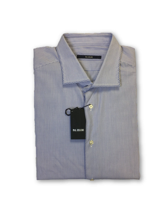 Pal Zileri shirt in blue and white stripe- khakisurfer.com Latest menswear designer brands added include Eton, Etro, Agave Denim, Pal Zileri, Circle of Gentlemen, Ralph Lauren, Scotch and Soda, Hugo Boss, Armani Jeans, Armani Collezioni.