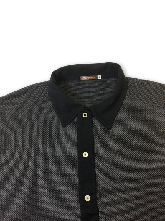 Agave Lux Buckeye polo in grey and black- khakisurfer.com Latest menswear designer brands added include Eton, Etro, Agave Denim, Pal Zileri, Circle of Gentlemen, Ralph Lauren, Scotch and Soda, Hugo Boss, Armani Jeans, Armani Collezioni.