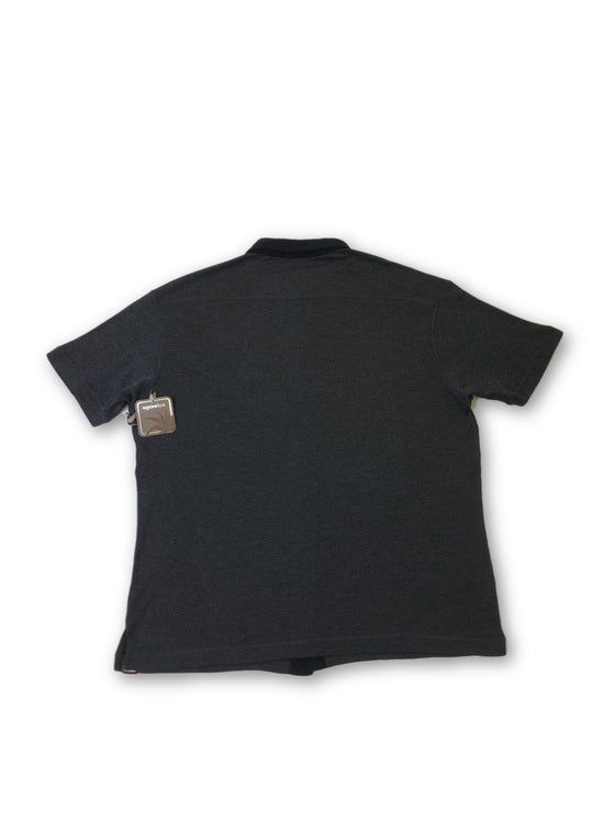Agave Lux Buckeye polo in grey and black