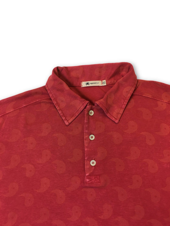Agave Lux 'Yin Yang-P' polo shirt in red- khakisurfer.com Latest menswear designer brands added include Eton, Etro, Agave Denim, Pal Zileri, Circle of Gentlemen, Ralph Lauren, Scotch and Soda, Hugo Boss, Armani Jeans, Armani Collezioni.