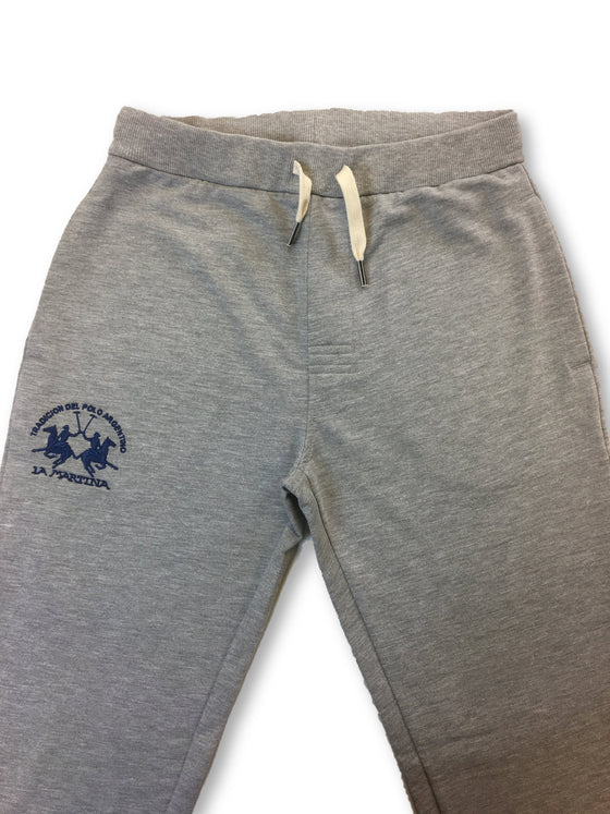 La Martina cotton joggers in light heather grey-khakisurfer.com
