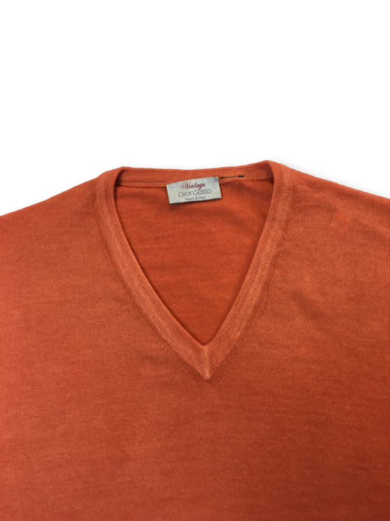Gran Sasso Vintage knitwear in orange- khakisurfer.com Latest menswear designer brands added include Eton, Etro, Agave Denim, Pal Zileri, Circle of Gentlemen, Ralph Lauren, Scotch and Soda, Hugo Boss, Armani Jeans, Armani Collezioni.