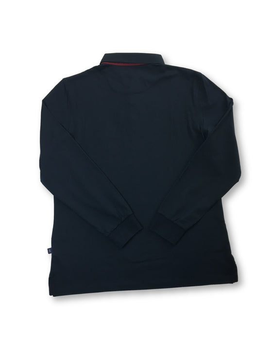 Florentino slim fit long sleeved polo in blue/navy- khakisurfer.com Latest menswear designer brands added include Eton, Etro, Agave Denim, Pal Zileri, Circle of Gentlemen, Ralph Lauren, Scotch and Soda, Hugo Boss, Armani Jeans, Armani Collezioni.