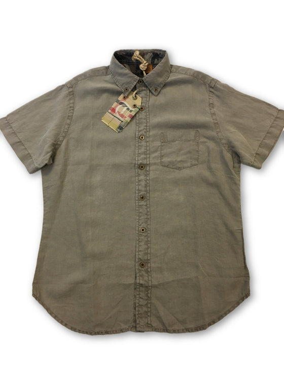 Tailor Vintage short sleeve shirt in khaki- khakisurfer.com Latest menswear designer brands added include Eton, Etro, Agave Denim, Pal Zileri, Circle of Gentlemen, Ralph Lauren, Scotch and Soda, Hugo Boss, Armani Jeans, Armani Collezioni.