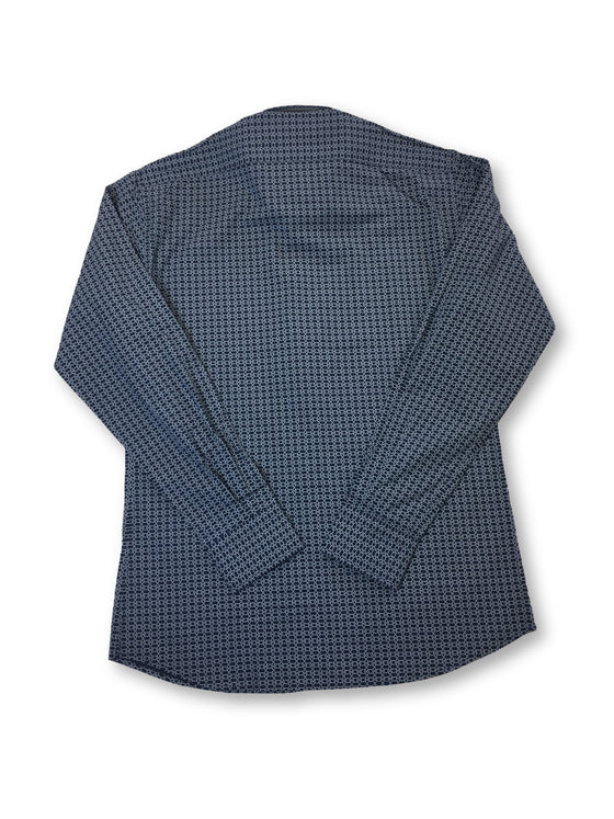 Lagerfeld slim shirt in navy overlapping rope pattern- khakisurfer.com Latest menswear designer brands added include Eton, Etro, Agave Denim, Pal Zileri, Circle of Gentlemen, Ralph Lauren, Scotch and Soda, Hugo Boss, Armani Jeans, Armani Collezioni.