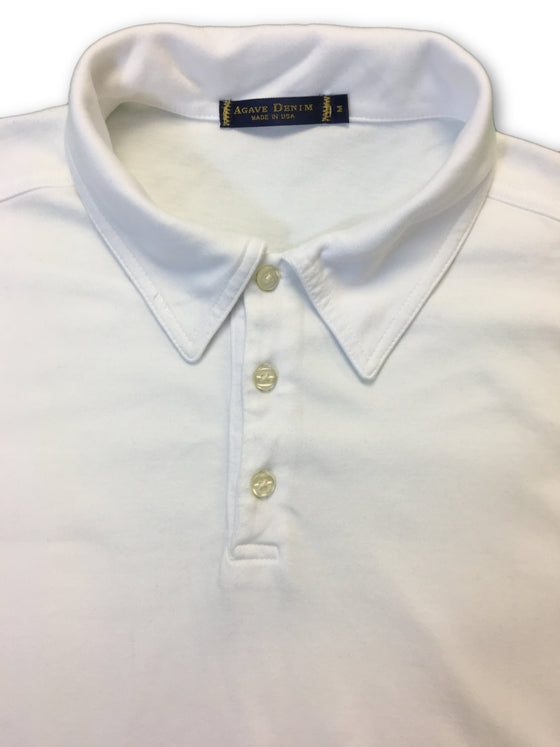 Agave denim polo in white- khakisurfer.com Latest menswear designer brands added include Eton, Etro, Agave Denim, Pal Zileri, Circle of Gentlemen, Ralph Lauren, Scotch and Soda, Hugo Boss, Armani Jeans, Armani Collezioni.