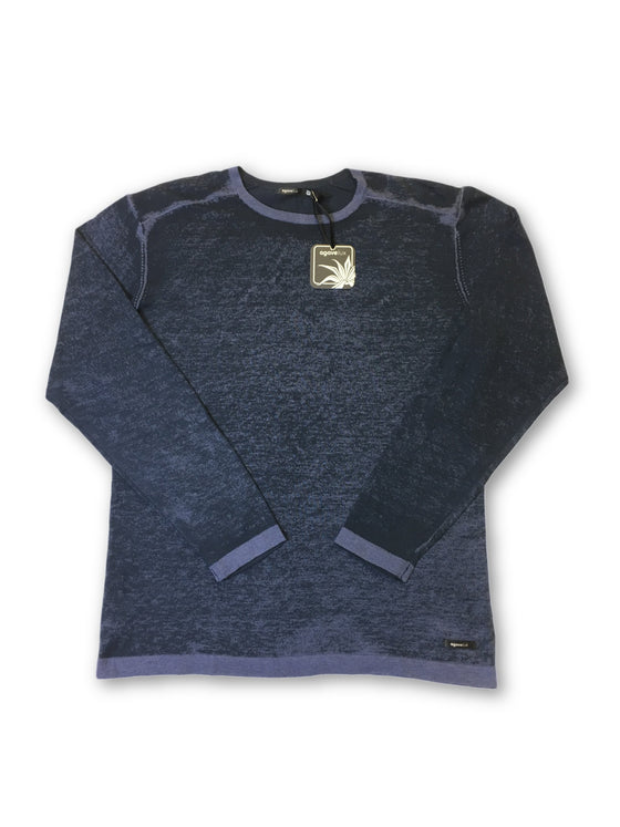 Agave Lux 'Robson' knitwear in blue and navy