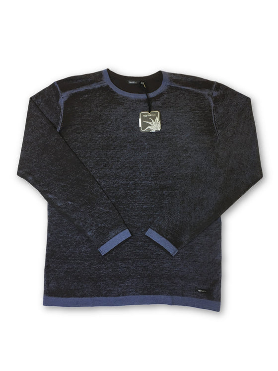Agave Lux 'Robson' knitwear in blue and brown