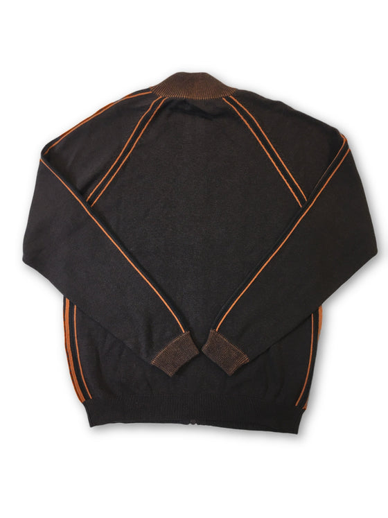 Agave Lux 'Coal Harbour' knitwear in brown and orange- khakisurfer.com Latest menswear designer brands added include Eton, Etro, Agave Denim, Pal Zileri, Circle of Gentlemen, Ralph Lauren, Scotch and Soda, Hugo Boss, Armani Jeans, Armani Collezioni.