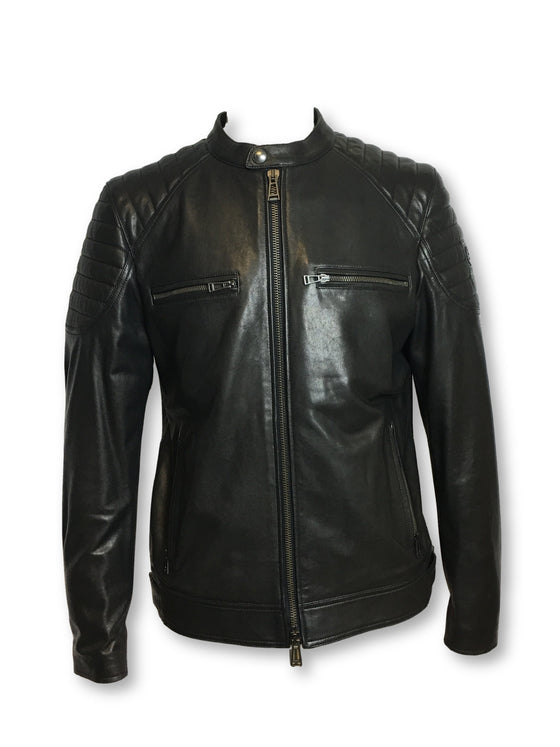 Belstaff Stoneham leather jacket in black- khakisurfer.com Latest menswear designer brands added include Eton, Etro, Agave Denim, Pal Zileri, Circle of Gentlemen, Ralph Lauren, Scotch and Soda, Hugo Boss, Armani Jeans, Armani Collezioni.