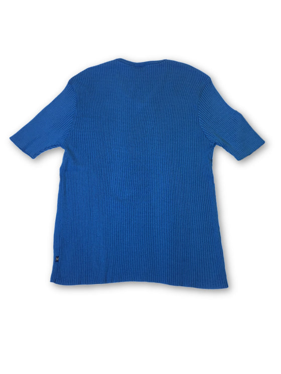 Morgan Homme rib knit t-shirt in blue- khakisurfer.com Latest menswear designer brands added include Eton, Etro, Agave Denim, Pal Zileri, Circle of Gentlemen, Ralph Lauren, Scotch and Soda, Hugo Boss, Armani Jeans, Armani Collezioni.