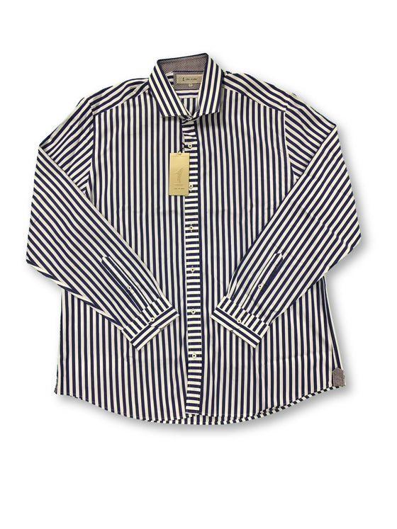 1...like no other blue and white striped cotton shirt- khakisurfer.com Latest menswear designer brands added include Eton, Etro, Agave Denim, Pal Zileri, Circle of Gentlemen, Ralph Lauren, Scotch and Soda, Hugo Boss, Armani Jeans, Armani Collezioni.