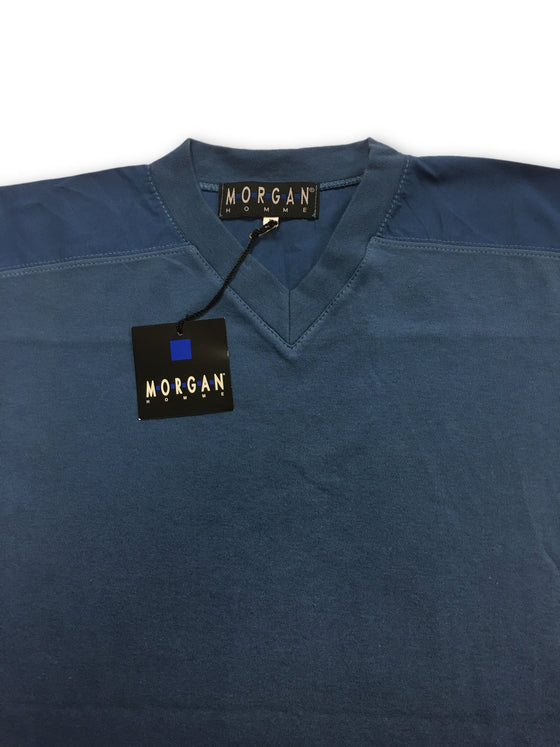 Morgan Homme T Shirt in Blue- khakisurfer.com Latest menswear designer brands added include Eton, Etro, Agave Denim, Pal Zileri, Circle of Gentlemen, Ralph Lauren, Scotch and Soda, Hugo Boss, Armani Jeans, Armani Collezioni.