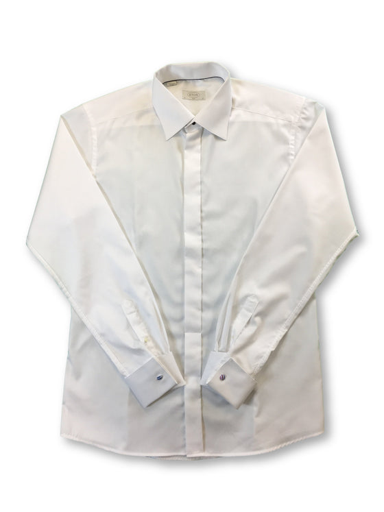 Eton Slim fit cotton dress shirt in white with double cuff- khakisurfer.com Latest menswear designer brands added include Eton, Etro, Agave Denim, Pal Zileri, Circle of Gentlemen, Ralph Lauren, Scotch and Soda, Hugo Boss, Armani Jeans, Armani Collezioni.