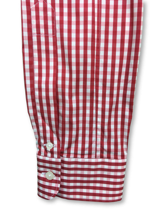 B>More slim shirt in red/white gingham check- khakisurfer.com Latest menswear designer brands added include Eton, Etro, Agave Denim, Pal Zileri, Circle of Gentlemen, Ralph Lauren, Scotch and Soda, Hugo Boss, Armani Jeans, Armani Collezioni.