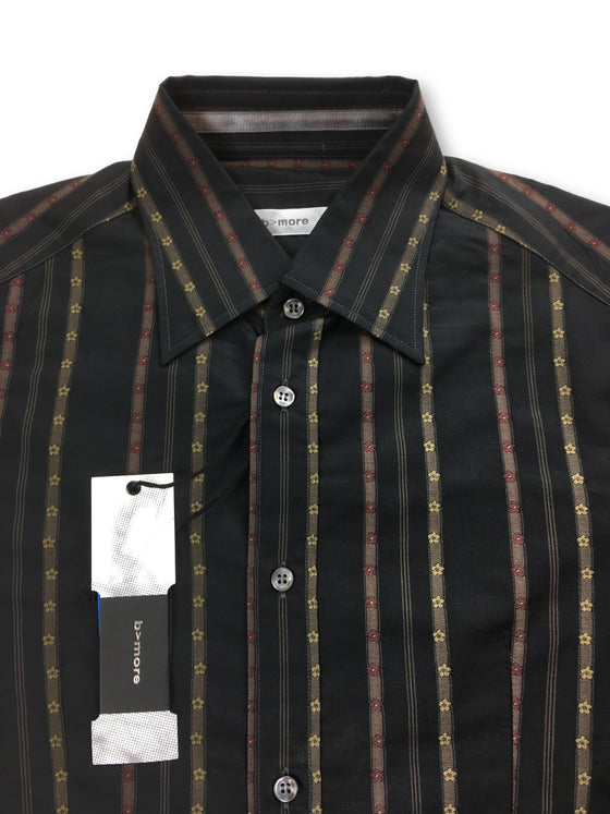 B>More Bristol slim fit shirt in brown floral stripe- khakisurfer.com Latest menswear designer brands added include Eton, Etro, Agave Denim, Pal Zileri, Circle of Gentlemen, Ralph Lauren, Scotch and Soda, Hugo Boss, Armani Jeans, Armani Collezioni.