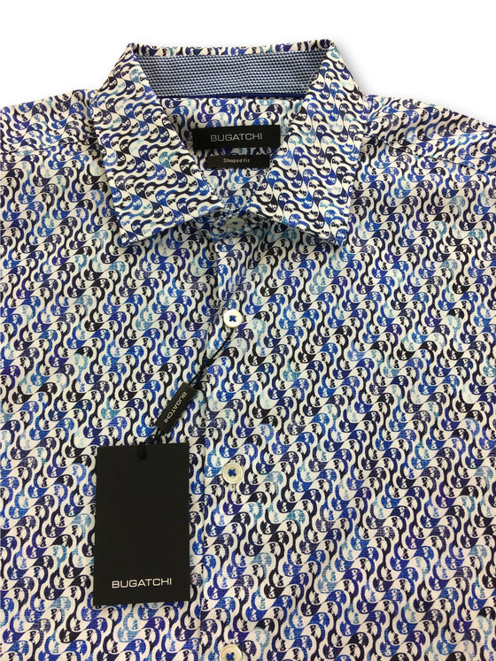 Bugatchi shaped fit shirt in blue and white parrot head print- khakisurfer.com Latest menswear designer brands added include Eton, Etro, Agave Denim, Pal Zileri, Circle of Gentlemen, Ralph Lauren, Scotch and Soda, Hugo Boss, Armani Jeans, Armani Collezioni.