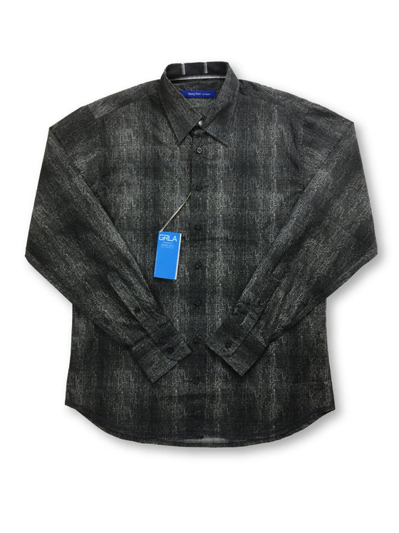 Georg Roth shirt in grey self stripe and mottled check- khakisurfer.com Latest menswear designer brands added include Eton, Etro, Agave Denim, Pal Zileri, Circle of Gentlemen, Ralph Lauren, Scotch and Soda, Hugo Boss, Armani Jeans, Armani Collezioni.