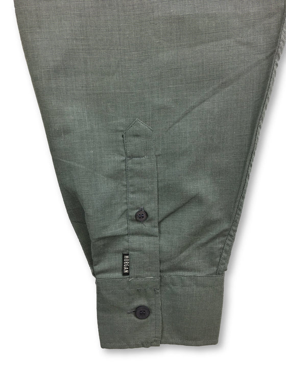 Morgan Homme shirt in grey/green- khakisurfer.com Latest menswear designer brands added include Eton, Etro, Agave Denim, Pal Zileri, Circle of Gentlemen, Ralph Lauren, Scotch and Soda, Hugo Boss, Armani Jeans, Armani Collezioni.