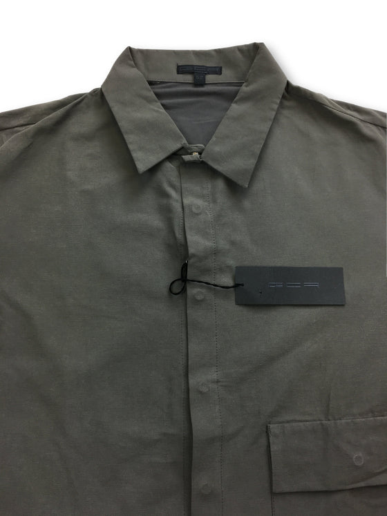 GCR shirt in grey/khaki- khakisurfer.com Latest menswear designer brands added include Eton, Etro, Agave Denim, Pal Zileri, Circle of Gentlemen, Ralph Lauren, Scotch and Soda, Hugo Boss, Armani Jeans, Armani Collezioni.