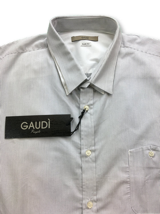 Gaudi People slim fit long sleeve shirt black stripe- khakisurfer.com Latest menswear designer brands added include Eton, Etro, Agave Denim, Pal Zileri, Circle of Gentlemen, Ralph Lauren, Scotch and Soda, Hugo Boss, Armani Jeans, Armani Collezioni.