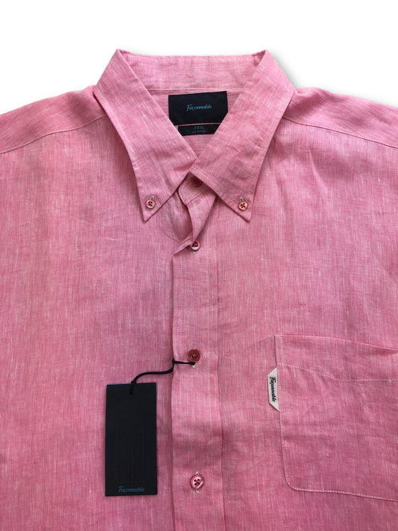 Faconnable casual shirt in pink linen