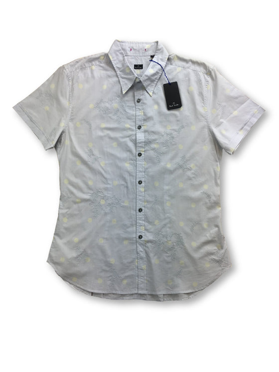 Paul Smith slim fit shirt in grey subtle dot