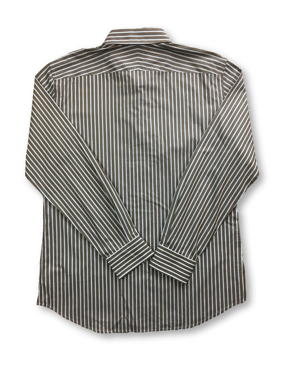 Paul Smith London slim fit shirt in brown/white stripe