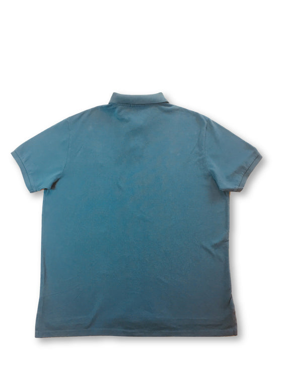 Ralph Lauren Polo custom fit polo in teal blue- khakisurfer.com Latest menswear designer brands added include Eton, Etro, Agave Denim, Pal Zileri, Circle of Gentlemen, Ralph Lauren, Scotch and Soda, Hugo Boss, Armani Jeans, Armani Collezioni.