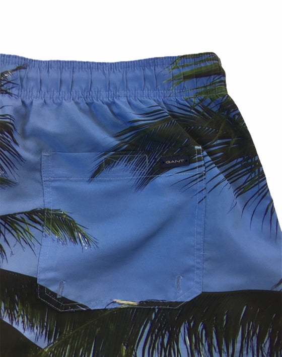 Gant Palm Beach classic fit swim shorts in topaz blue/green