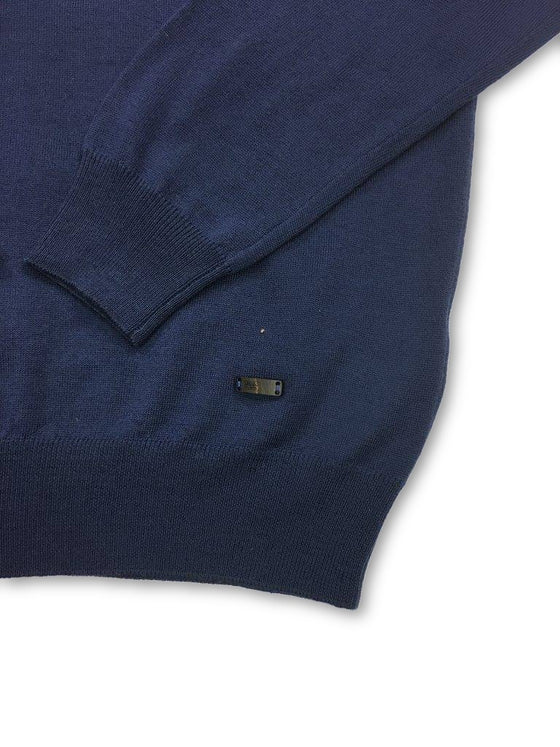 Armani Collezioni knitwear in Cobalt Blue- khakisurfer.com Latest menswear designer brands added include Eton, Etro, Agave Denim, Pal Zileri, Circle of Gentlemen, Ralph Lauren, Scotch and Soda, Hugo Boss, Armani Jeans, Armani Collezioni.