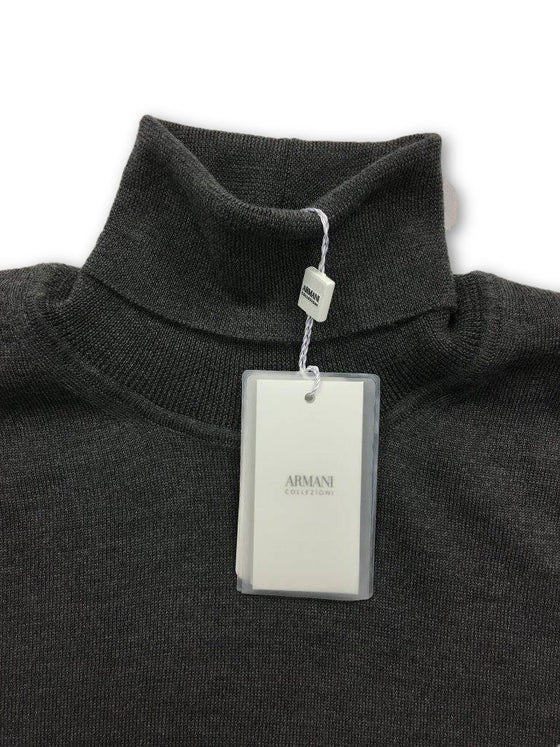 Armani Collezioni Knitwear in Grey- khakisurfer.com Latest menswear designer brands added include Eton, Etro, Agave Denim, Pal Zileri, Circle of Gentlemen, Ralph Lauren, Scotch and Soda, Hugo Boss, Armani Jeans, Armani Collezioni.