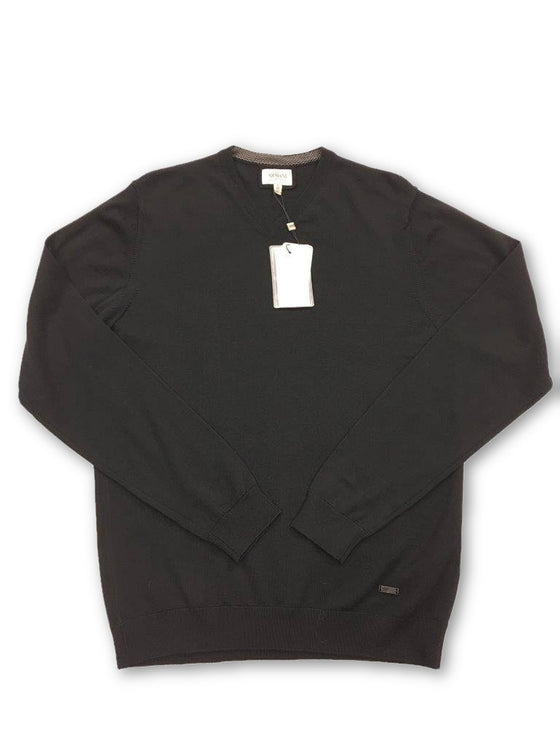 Armani Collezioni Knitwear in Black- khakisurfer.com Latest menswear designer brands added include Eton, Etro, Agave Denim, Pal Zileri, Circle of Gentlemen, Ralph Lauren, Scotch and Soda, Hugo Boss, Armani Jeans, Armani Collezioni.