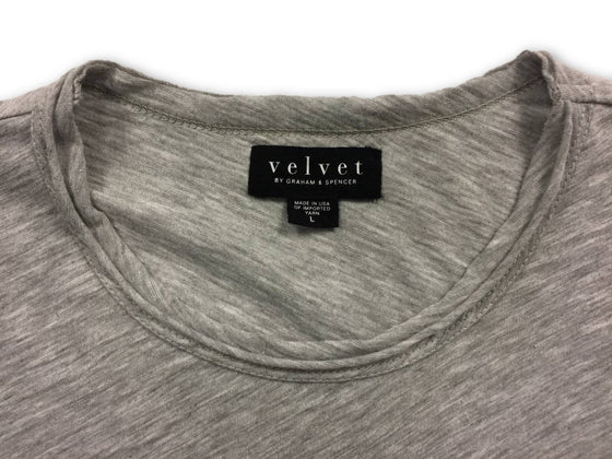 Velvet T-Shirt in Light Grey- khakisurfer.com Latest menswear designer brands added include Eton, Etro, Agave Denim, Pal Zileri, Circle of Gentlemen, Ralph Lauren, Scotch and Soda, Hugo Boss, Armani Jeans, Armani Collezioni.