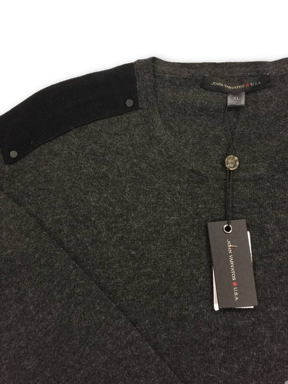 John Varvatos Star USA knitwear in grey- khakisurfer.com Latest menswear designer brands added include Eton, Etro, Agave Denim, Pal Zileri, Circle of Gentlemen, Ralph Lauren, Scotch and Soda, Hugo Boss, Armani Jeans, Armani Collezioni.