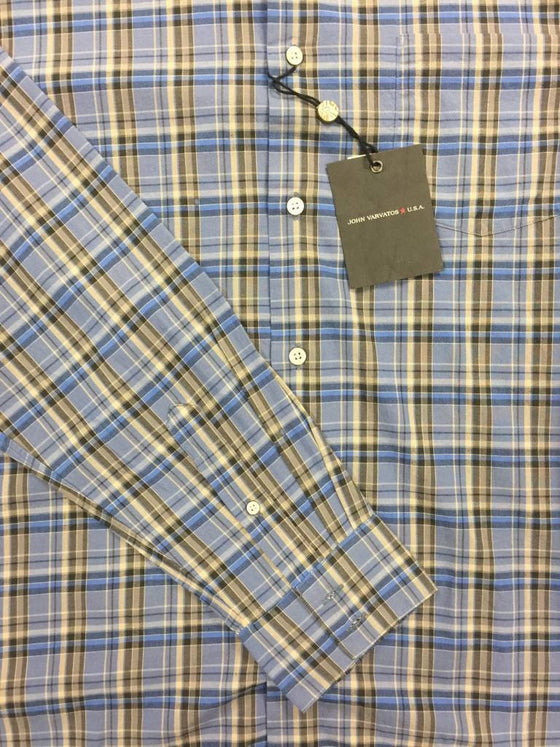 John Varvatos Star USA shirt in blue- khakisurfer.com Latest menswear designer brands added include Eton, Etro, Agave Denim, Pal Zileri, Circle of Gentlemen, Ralph Lauren, Scotch and Soda, Hugo Boss, Armani Jeans, Armani Collezioni.