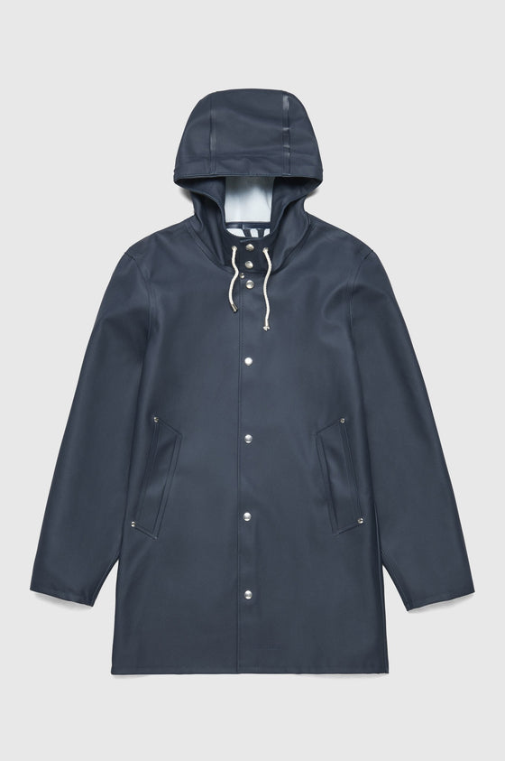 Stutterheim Stockholm Unisex hooded raincoat in navy