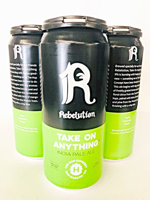 THE HOP CONCEPT X REBELUTION TAKE ON ANYTHING IPA